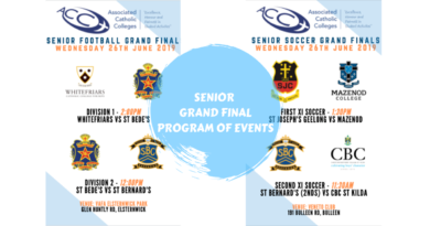 SENIOR GRAND FINALS – PROGRAM OF EVENTS
