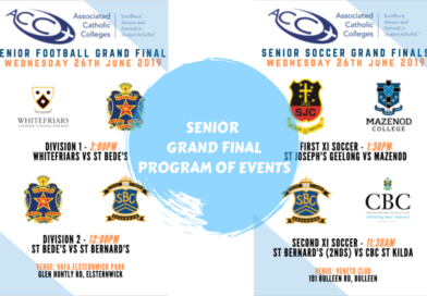 SENIOR GRAND FINALS – PROGRAM OF EVENTS